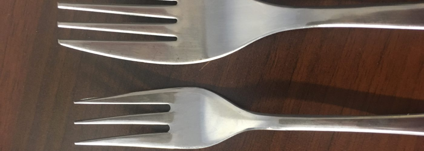 Downsizing your fork is a must…!!!!