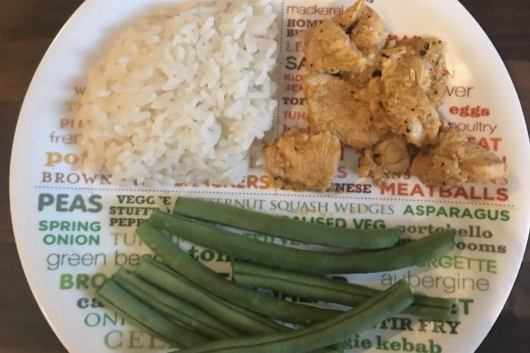 Thai Red Curry, Sticky Rice & Green Beans